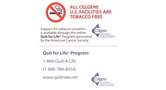 Tobacco free business card ceo cancer gold standard gold standard employer celgene tobacco free business card colourmoves